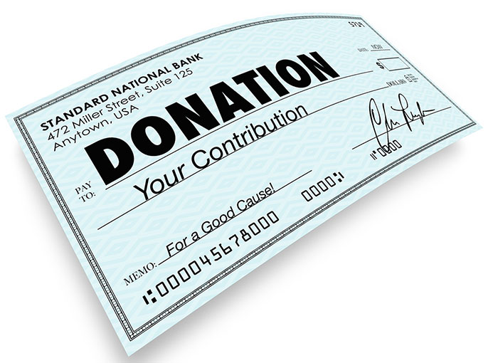 charitable donations info at SousaWeber.com