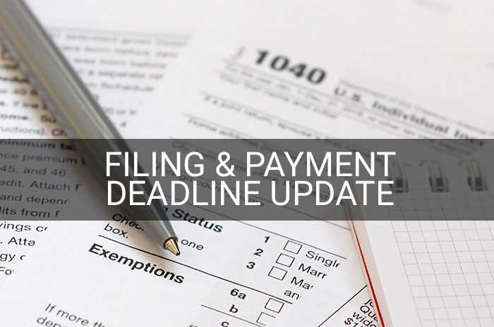 tax filing & payment update